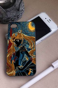 Sailor Moon Starry Night   Anime   iPhone 4 4S 5 5S 5C 6 6+ Case   Samsung Galaxy S3 S4 S5 Cover   HTC Cases