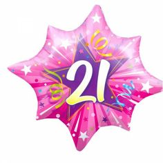 XL Folieballon 21ste Verjaardag