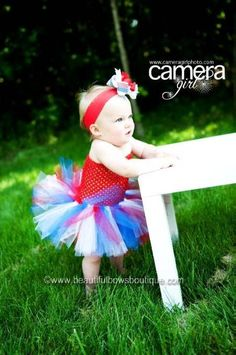 This of July girl's tutu dress proves that the best things really do come in small packages! Designed in fine artisan detail, swathes of fluffy red, white, and blue tul. 4th Of July Dresses, Patriotic Dresses, Baby Tutu Dresses, Baby Dress, Baby Bows, Baby Headbands, Newborn Tutu, Big Hair Bows, Blue One Piece