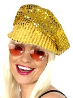 DISCO Sequin Hat GOLD | Party Supplies from Novelties Direct