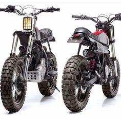 Monday Fave: #NX650 #Dominator #Scrambler by @dreamwheelsheritage and @capelosgarage. Details on the blog! #Honda #dualsport #enduro #custom #motorcycle #moto #tracker #motolove
