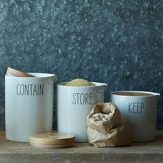 (LOVE) Labeled Kitchen Storage Canisters #WestElm