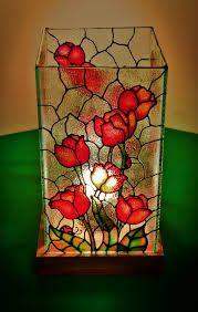 lámpara falso vitral