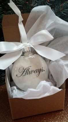 Memorial Loved One Ornament- In Memory Christmas Ornament- Always - Loss of Husband - Wife - Memory of Child - Bereavement Gift Memento by ShopCreativeCanvas on Etsy