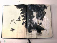 woman in black #acryl #ink #акварель #aquarelle #drawing #art #artist #artwork #painting #illustration #watercolor #aquarela #gemälde #sketchbook #skizzenbuch #creative #picture #Kunst #watercolor