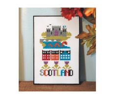 Scotland Cross Stitch Pattern Instant Download by tinymodernist