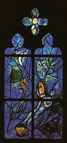 Chagall, Marc (1887-1985) - 1978 St. Mark and St. Matthew, Stained Glass Windows All Saints Church, Tudeley, UK.
