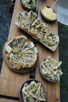 Medieval Food: Mushroom tart and cheese and egg salad,14th century recipe