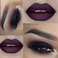 25 Perfect Holiday Makeup Looks and Tutorials Black Smokey Eye + Dark Lips Gorgeous Makeup, Love Makeup, Makeup Style, Dark Makeup Looks, Amazing Makeup, Makeup Goals, Makeup Tips, Makeup Ideas, Makeup Tutorials