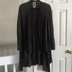 Anthropologie 'Burning Torch' Sort of a charcoal gray color and very cozy. Anthropologie Jackets & Coats