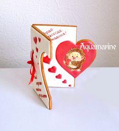 П Valentines Day Cakes, Valentine Cookies, Birthday Cookies, Valentines Diy, Fondant Cookies, Cupcake Cookies, Meringue Cookies, Royal Icing Cookies, Spice Cookies
