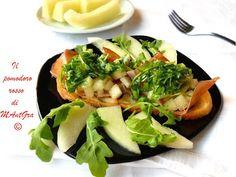 Il Pomodoro Rosso di MAntGra: Crostoni di melone e speck