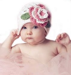 Baby girl hat- got to love this!