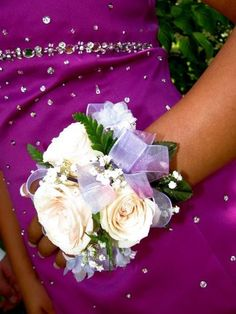 Homemade wrist corsages. So much cheaper than purchased ones.