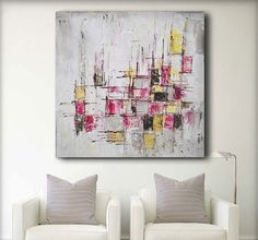 Acrylic Abstract painting giclee print acrylic large by baronvisi