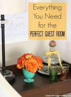 Everything you need to know to get your Guest Room ready for guests!