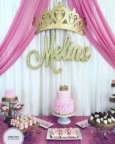 Extremely appealing Princess Birthday Party Ideas for Busy Moms Princess Birthday Party Decorations, Princess Theme Birthday, 1st Birthday Party For Girls, Baby Birthday, Birthday Parties, Pink Princess Party, Baby Shower Themes, Baby Shower Decorations, Pink Gold Party