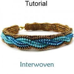 *P Beaded Herringbone Bracelet Beading Pattern Tutorial