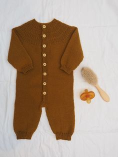 Ravelry: Anker's One Piece Suit pattern by PetiteKnit Baby Sweater Knitting Pattern, Baby Boy Knitting, Knitting For Kids, Baby Knitting Patterns, Knitted Baby Clothes, Knitted Romper, Baby & Toddler Clothing, Onesie Pattern, Suit Pattern