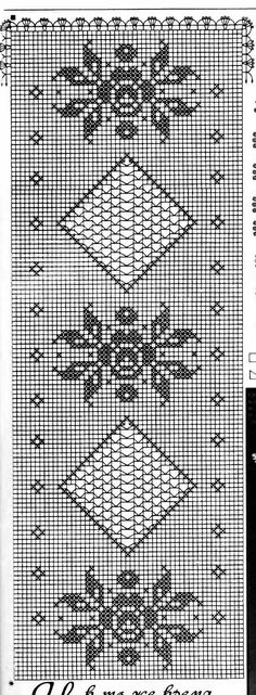 This Pin was discovered by Lil Stitch Crochet, Filet Crochet Charts, C2c Crochet, Crochet Borders, Crochet Diagram, Crochet Stitches Patterns, Crochet Home, Thread Crochet, Crochet Designs
