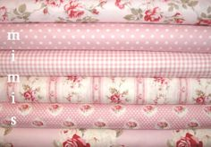 YARD BUNDLE Petal  by Tanya Whelan / Pinks /  Cotton by mimis, $57.00