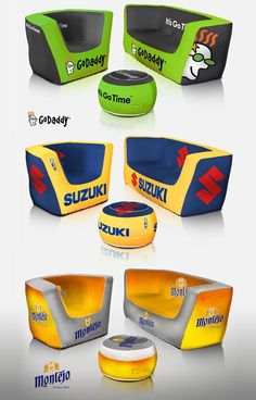 Promoting your brand can be fun with customized inflatable furniture! To order, contact Liz at Liz@trophiesinc.com!