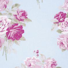 Tanya Whelan - Slipper Roses - Slipper Roses in Blue // $10 per yard // Quilting Weight