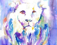 """Lion watercolor painting print ,lion art, animal art, illustration, animal watercolor, lion illustration, lion painting, cat art  Buy two Get one FREE! Special offer! Buy two print and get one free(of the same size). Send me the links of the 3 posters that you have chosen in the """"notes to seller"""" section You will receive the three prints that you have selected for the price of 2.  This is a print of my original painting. Printed especially for you!  Item DESCRIPTION SIZE: Standard sizes, fit…"""