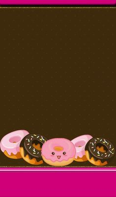 Image uploaded by GLen =^● 。●^=. Find images and videos about kawaii, chocolate and donuts on We Heart It - the app to get lost in what you love. Disney Phone Wallpaper, Food Wallpaper, Iphone Wallpaper, Donut Images, Donut Logo, Pink Background Images, Cute Food Drawings, Matching Wallpaper, Easy Cake Decorating