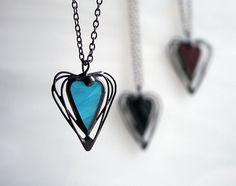 Express-Versand Heart Halskette blau Geschenk-Ideen von ArtKvarta
