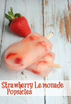 Check out this yummy and refreshing summer treat recipe - Strawberry Lemonade Popsicles!