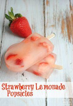 Strawberry Lemonade Popsicle Recipe! Love this Fresh Strawberry Recipe for Summer! Frozen dessert recipe for kids!
