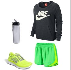 new concept 9a4f2 6b54e A fashion look from July 2013 featuring nike sweatshirts, NIKE and silver  shoes.