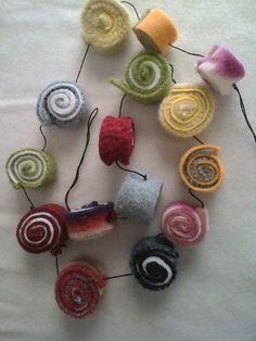 Wool felt candy garland.