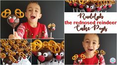 Rudolph the rednosed Reindeer Christmas Cake Pops (Youtube Tutorial)