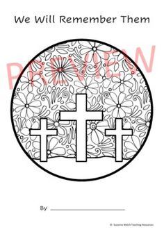 Anzac Day Art Activity by Suzanne Welch Teaching Resources   TpT Classroom Resources, Teaching Resources, Poppy Template, Cross Silhouette, Armistice Day, Anzac Day, Remembrance Day, Writing Poetry, Draw Your