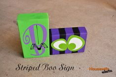 Housewife Eclectic: Striped Boo Halloween Sign