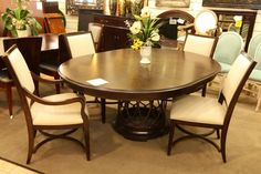 Round Pedestal Dining Table with 4 Chairs - Colleen's Classic Consignment, Las Vegas, NV www.colleenconsign.com
