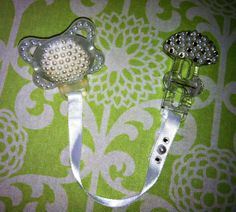 Beautiful Pearl Pacifier & Clip by LaLaLuxury on Etsy, $42.00