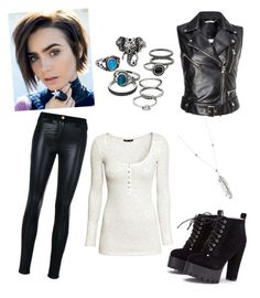 """""""#9 fem"""" by williamkyle on Polyvore featuring DAVID MUSHEGAIN, Versace, H&M and Mudd"""