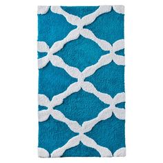 "Threshold™ Curvy Geo Bath Rug - Turquoise (20x34"")"