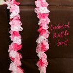 Easy Crocheted Ruffle Scarf - like Theresa made for me.  Website has link to video tutorial.