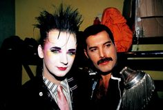 Boy George and Freddie Mercury :-D