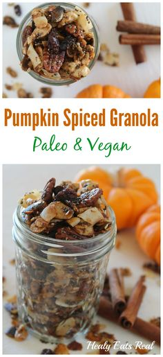 Pumpkin Spiced Granola- Paleo & Vegan. This would make a great healthy ...