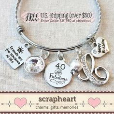 Etsy Charm Bracelet is a great gift for anytime!  Pick your charms..#bracelet #ad #charms #etsy