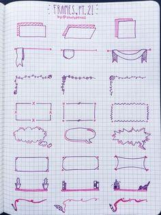 Títulos e bordas caderno