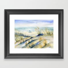 Ocean City Beach Maryland by Melly Terpening #beachdecorhouse  Choose from a variety of frame styles, colors and sizes to complement your favorite Society6 gallery, or fine art print - made ready to hang. Fine-crafted from solid woods, premium shatterproof acrylic protects the face of the art print, while an acid free dust cover on the back provides a custom finish. All framed art prints include wall hanging hardware.