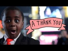 A big THANK YOU to YOU from our Kid President!