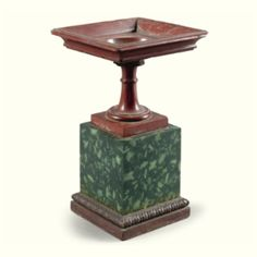 An Italian carved antico rosso square tazza circa 1820, in the manner of Benedetto Boschetti - Sotheby's