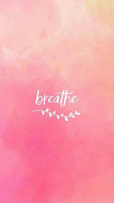 Breathe Quote wallpaper